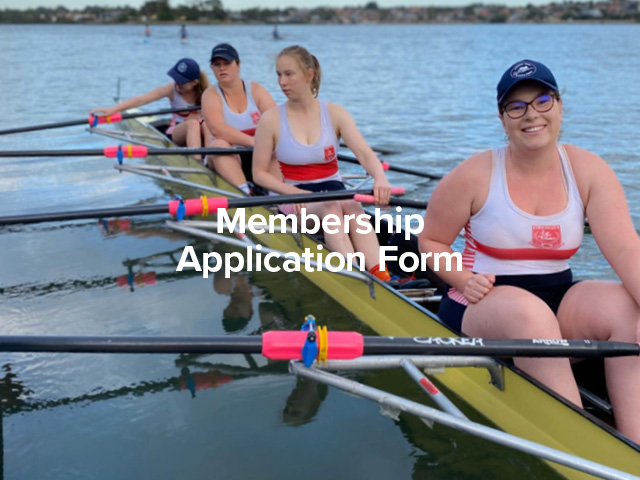 Rowing Membership Application Form