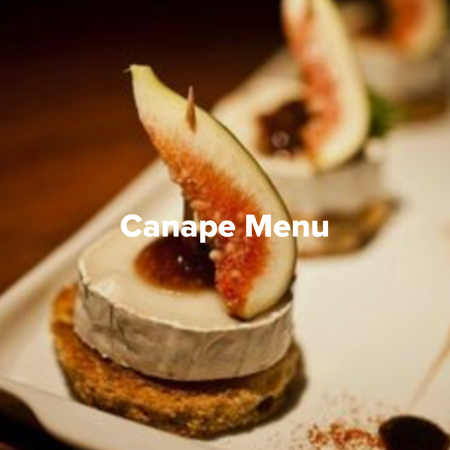 Canape Menu at Rowers on Cooks River