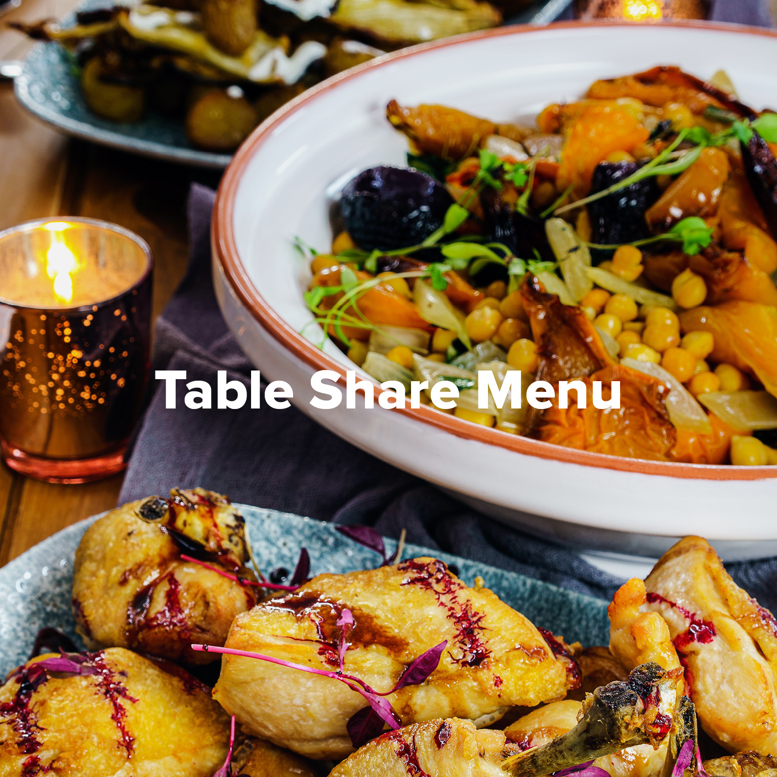 Table Share Menu at Rowers on Cooks River